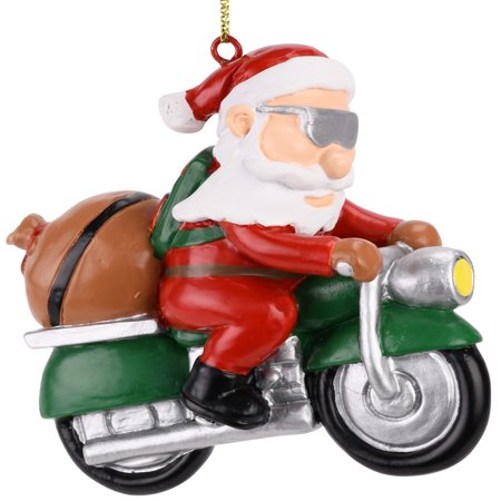 - Tree Buddees Biker Santa Claus Motorcycle Christmas Tree Ornament