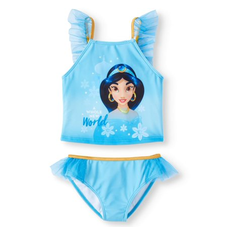 Princess Jasmine Ruffled Tankini Swimsuit (Little (Disney Princesses Swimsuit)