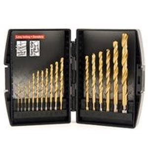 Vulcan 871570OR Drill Bit Set, 1/64 - 3/8 in, 17 Pieces, 3-Flat Shank, Titanium