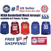 Pets First NCAA Indiana Hoosiers Basketball Mesh Jersey - Licensed, Brand NEW, 5 Collegiate Teams in 6 sizes