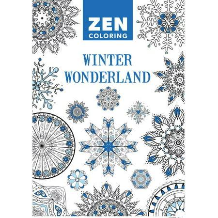Winter Wonderland Adult Coloring Book