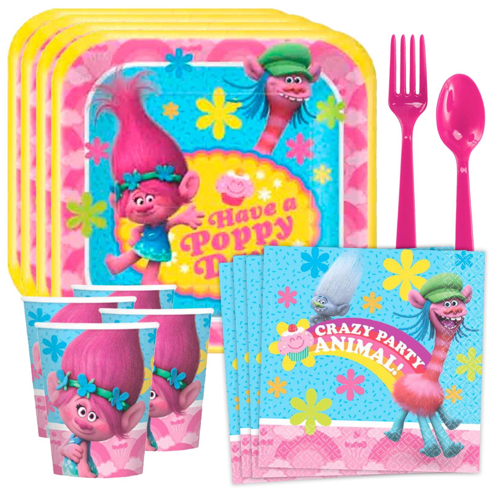 Trolls Standard Tableware Kit (Serves 8)
