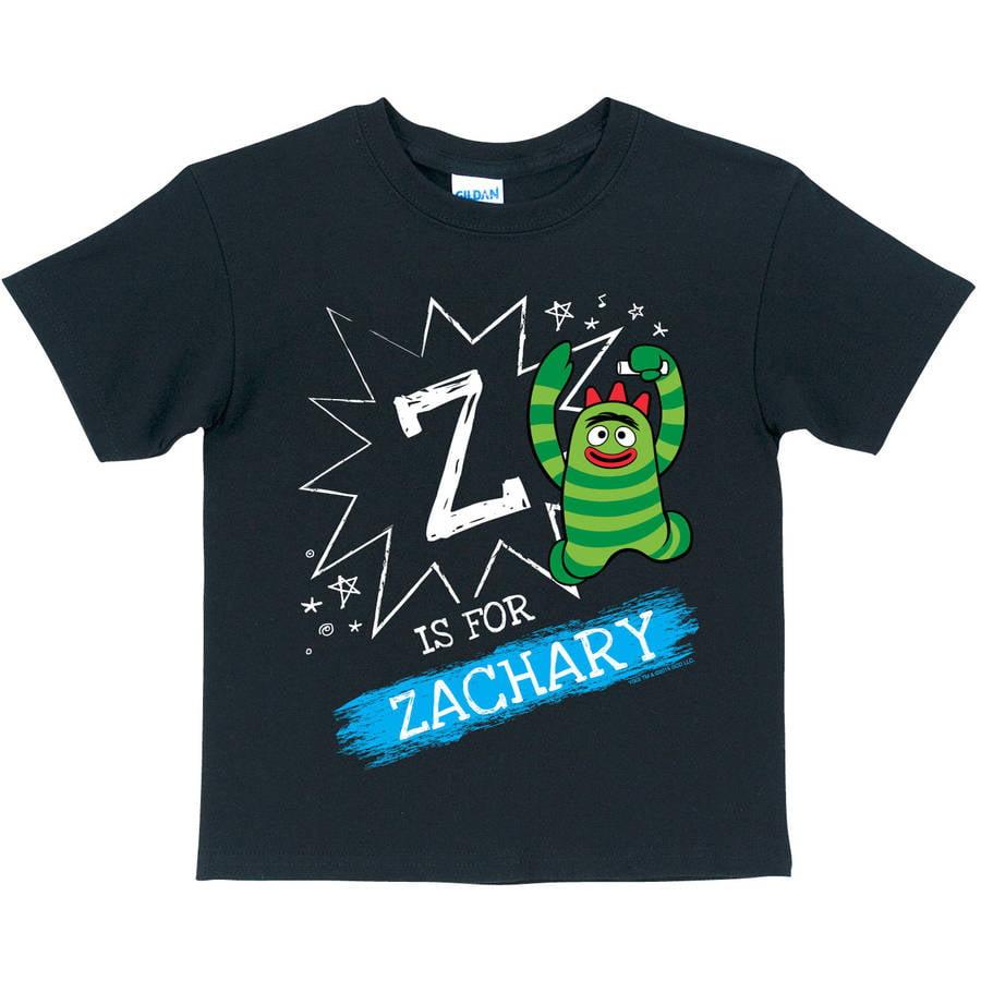 Personalized Yo Gabba Gabba Chalkboard Brobee Boys' T-Shirt, Black