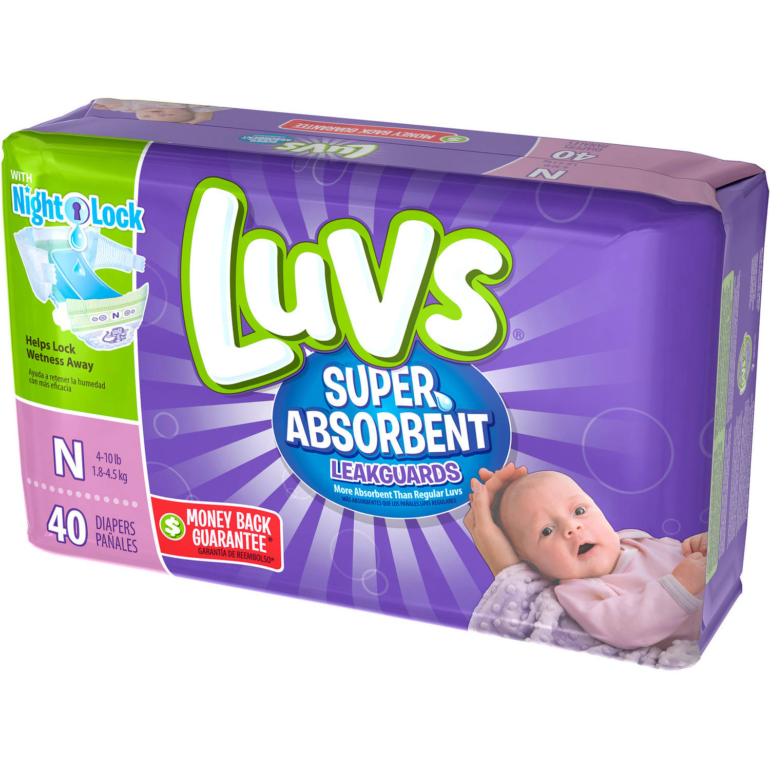 Luvs Super Absorbent Leakguards Diapers, (Choose Your Size)