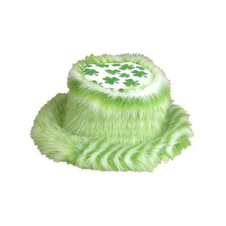 St. Patricks Day Irish Fuzzy Pimp Shamrock Bucket Hat