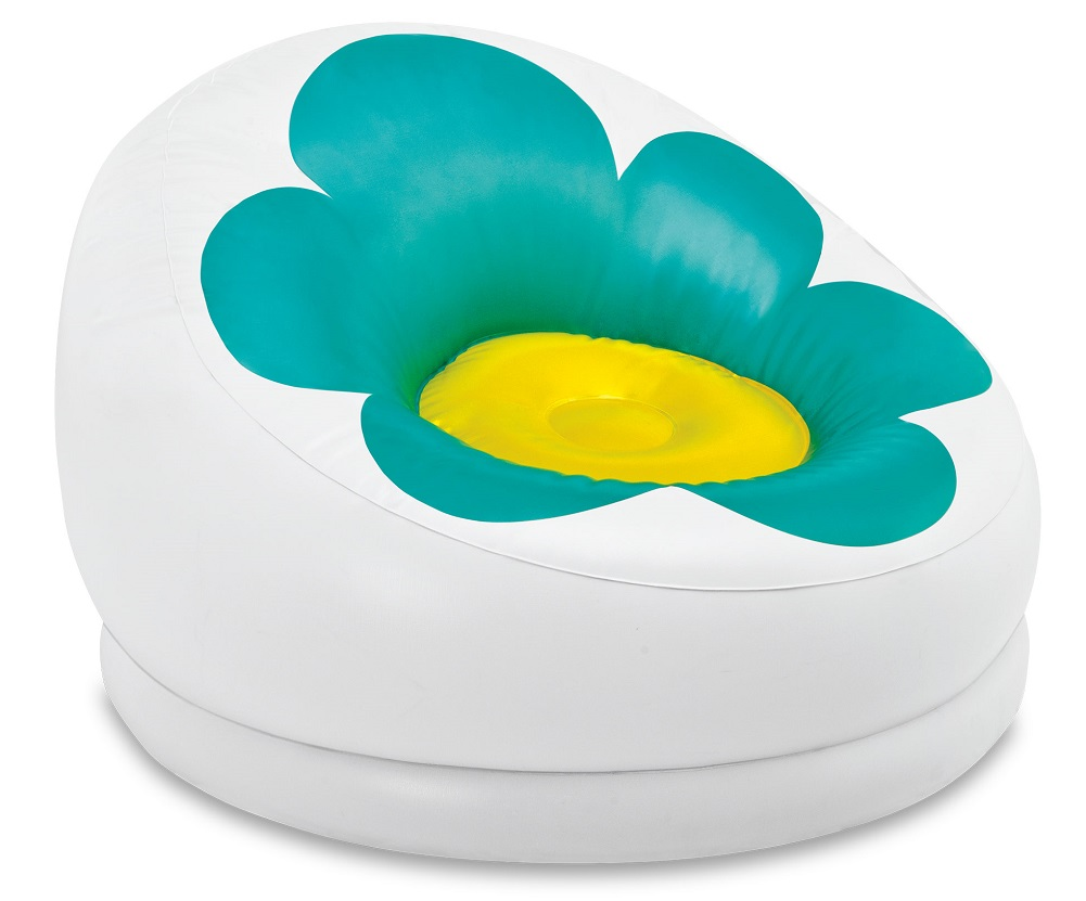 Intex Inflatable Blossom Chair For Kids Turquoise 68574EP by Intex