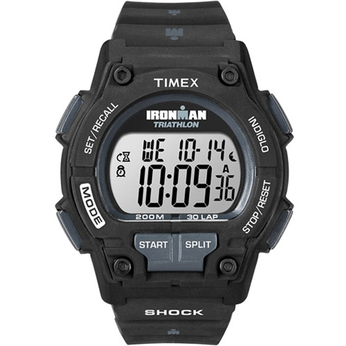 Timex Men's Ironman Original 30 Shock Full-Size Watch, Black Resin Strap