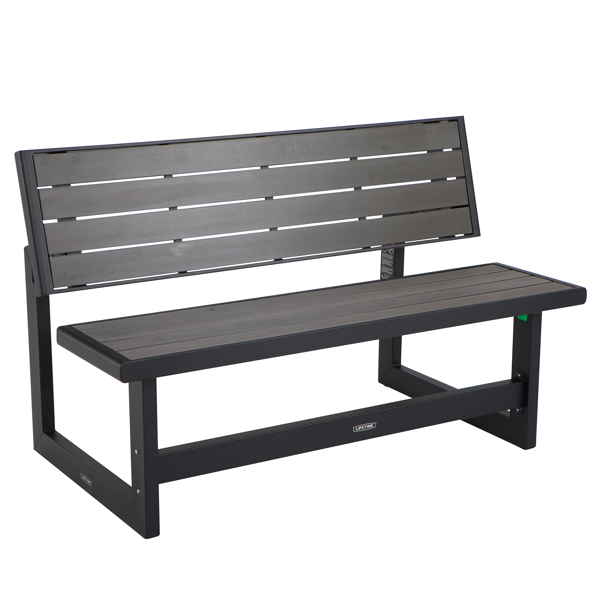 Lifetime Convertible Bench, Harbor Gray, 60253