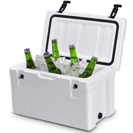 Costway Outdoor Insulated Fishing Hunting Cooler Ice Chest 40 Quart Heavy