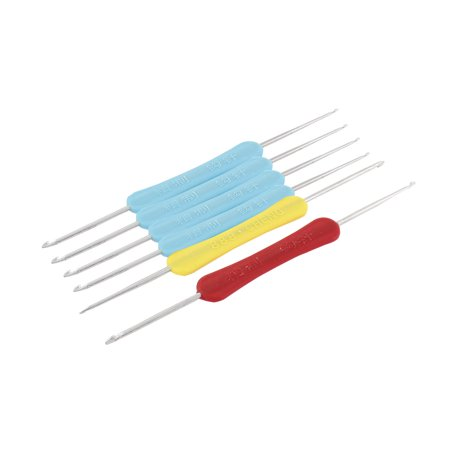 Plastic Handgrip Metal Crochet Knitting Hooks Needles Sewing Craft 6pcs for $<!---->