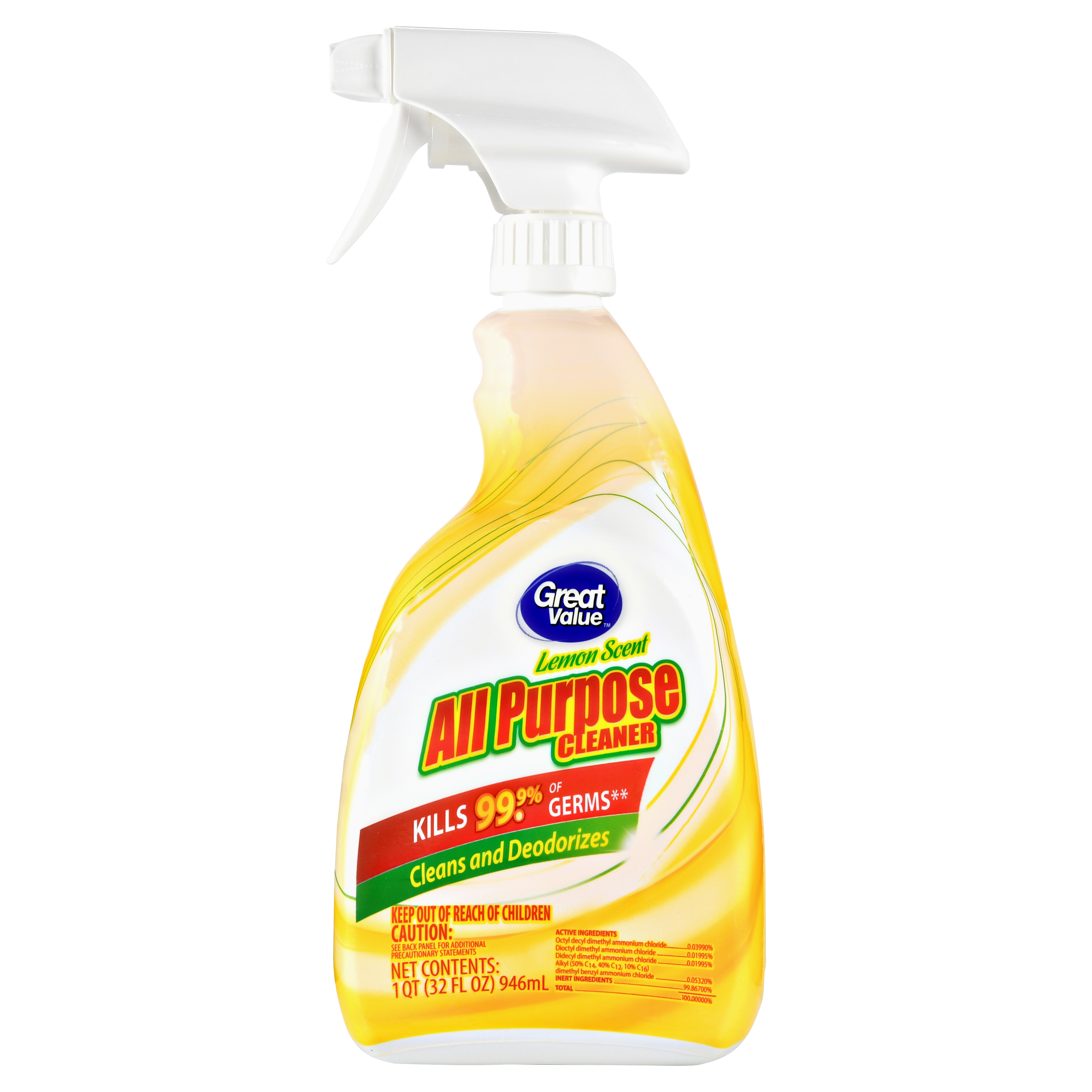 Great Value Lemon Scent All Purpose Cleaner, 32 Fl Oz by Great Value