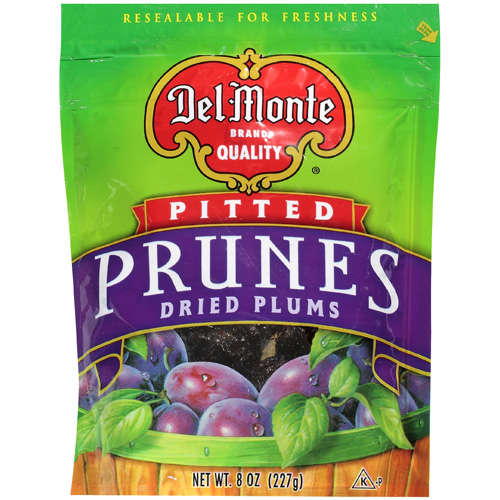 Del Monte Quality: Pitted Dried Plums Prunes, 8 oz