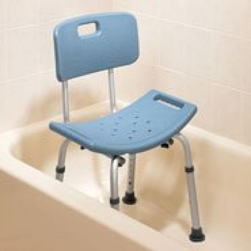 Lumex 7921R-1 Platinum Collection Bath Seat with Backrest, Standard Grey, Ret...