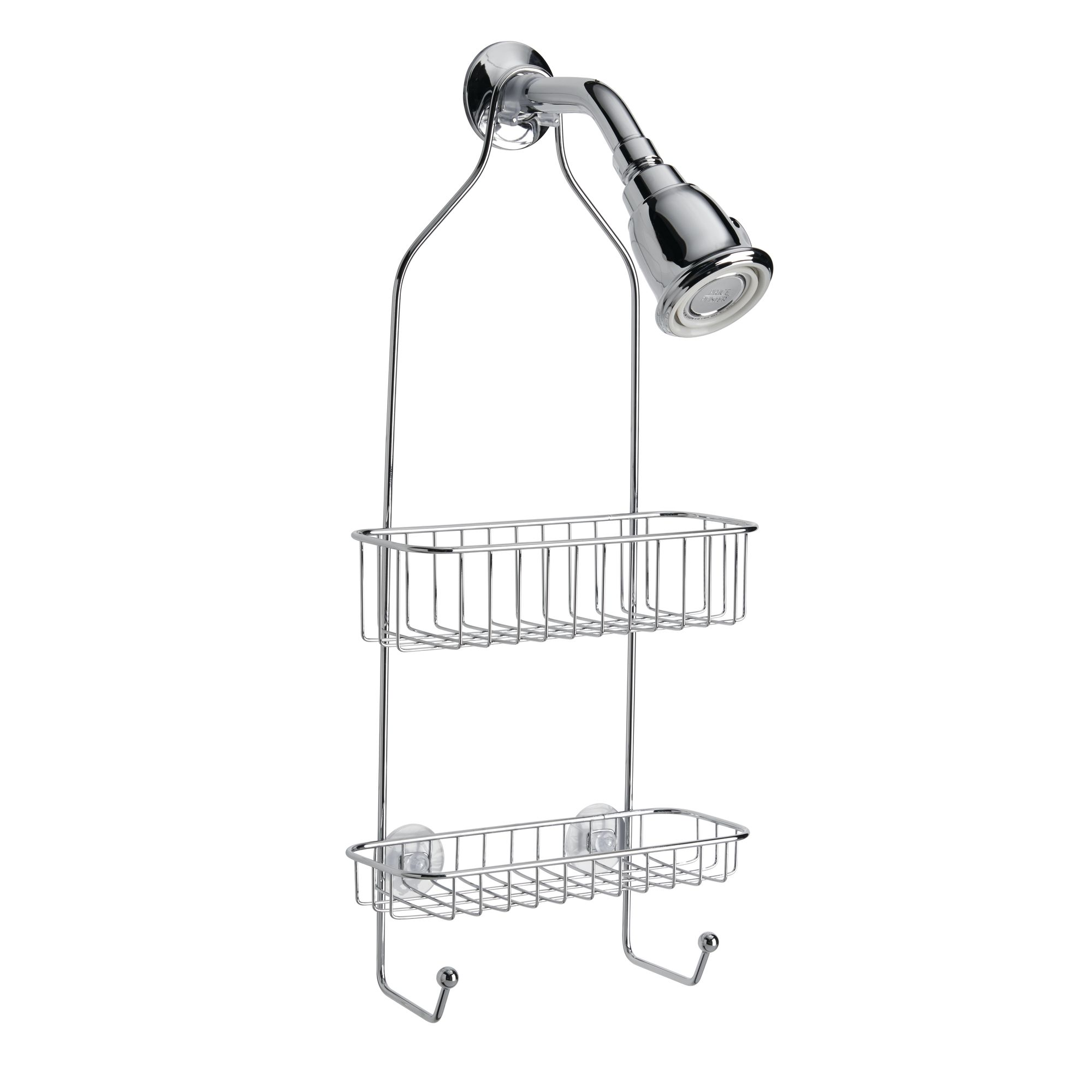 InterDesign Rondo Bathroom Shower Caddy For Shampoo, Conditioner, Soap,  Polished Stainless Steel