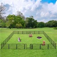 32 Panels Metal Dog Playpen Large Pets Exercise Barrier with Door Outdoor Indoor Black
