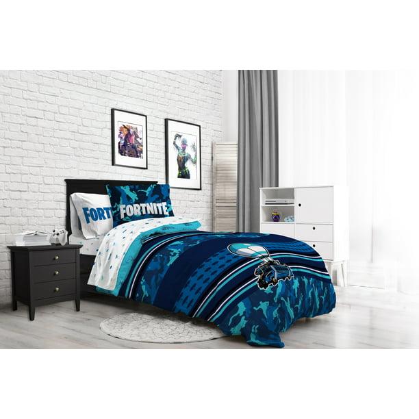 Fortnite Gaming Boys Queen Comforter, Fortnite Queen Size Bed