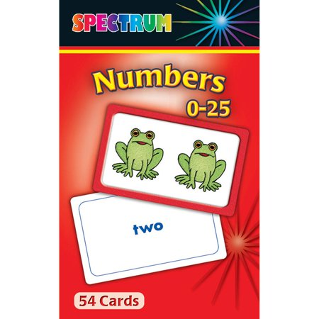 - CD-734001 - Spectrum Flash Cards Numbers 0-25 Gr Pk-1 by Carson Dellosa