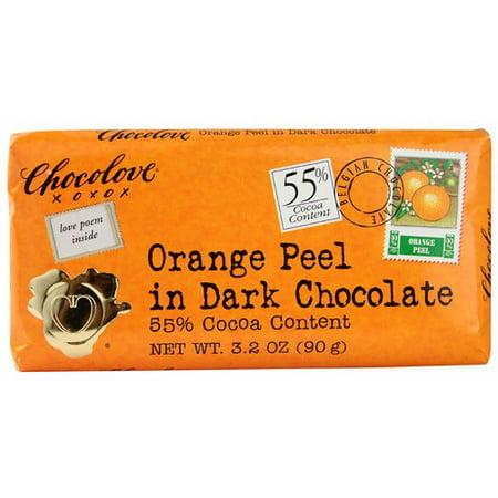 Dark Chocolate Orange (CHOCOLOVE: 55% Dark Chocolate w/ Orange Peel Bar )