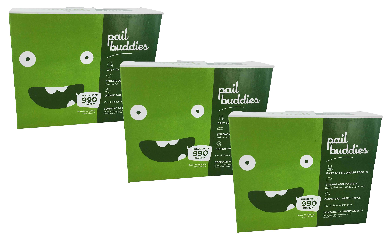 Pail Buddies Diaper Pail Refills For Diaper Dekor Classic Diaper Pails 6 Pack by Pail Buddies