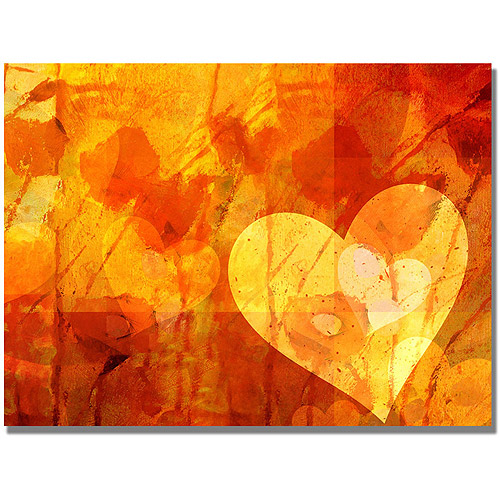 "Trademark Fine Art ""Love Message"" Canvas Wall Art by Adam Kadmos"
