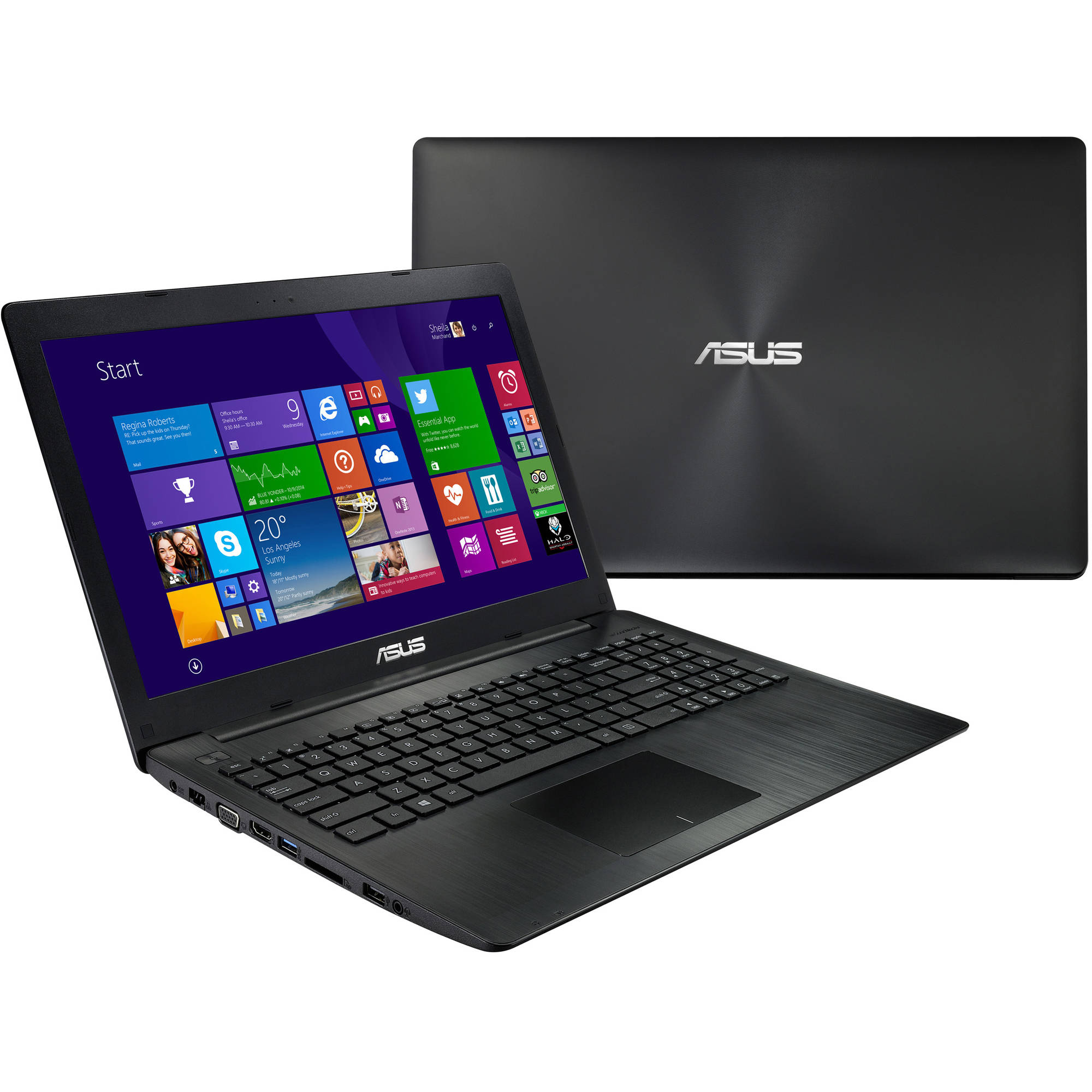 "ASUS Black 15.6"" K553MA-DB01TQ Laptop PC with Intel BayTrail-M N2930 Quad-Core Processor, 4GB Memory, touch screen, 500GB Hard Drive and Windows 8.1   (Free Windows 10 Upgrade before July 29, 2016)"
