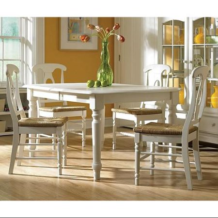 dining room set with leaf expandable table 4 chairs
