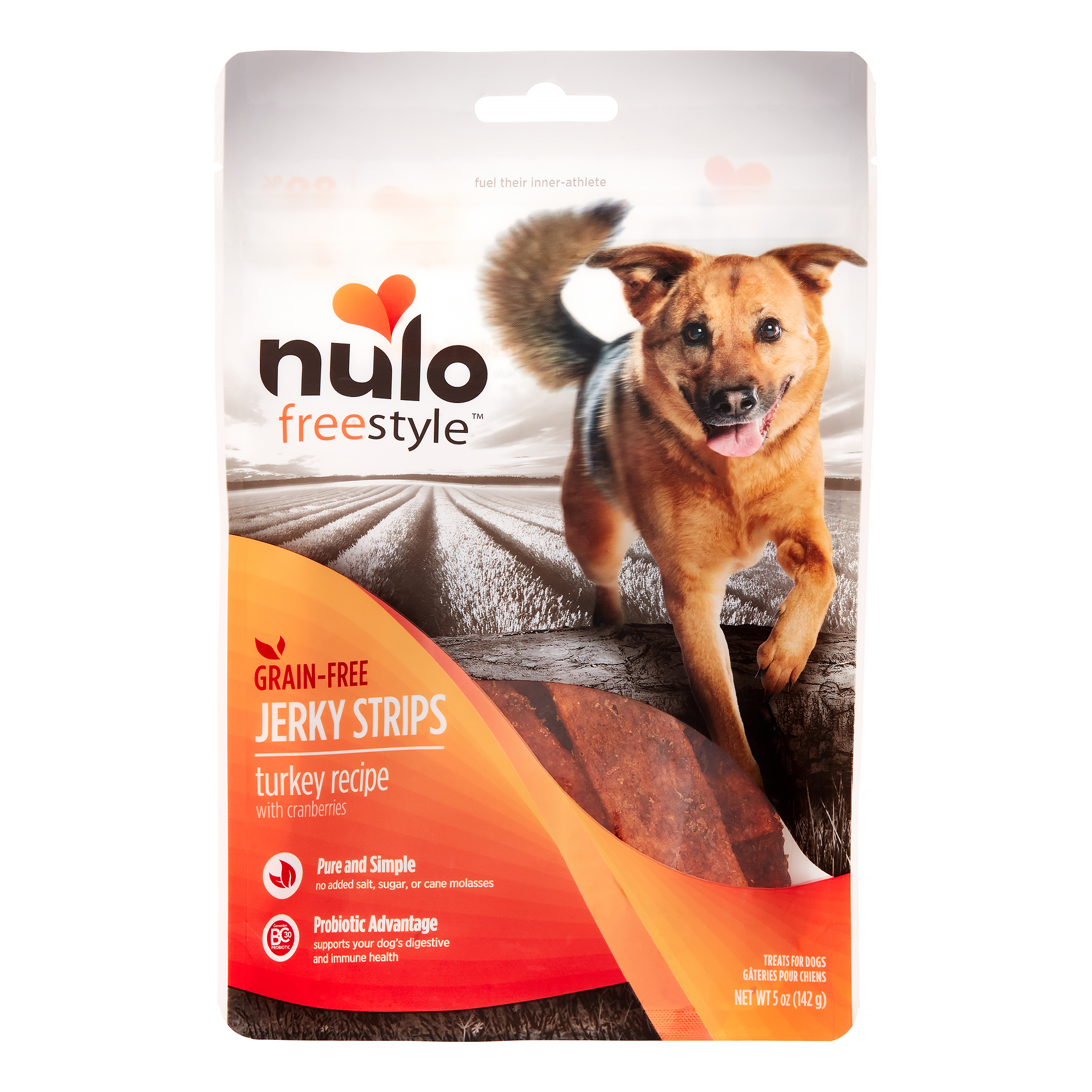 Nulo FreeStyle Jerky Turkey Cranberry Dog Treat, 5 Oz