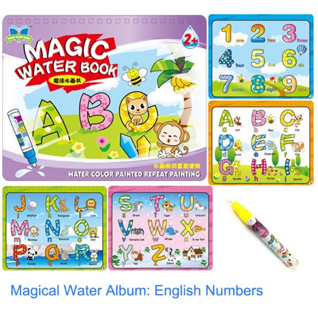 Children Kid Educational Toys Magic Water Drawing Book Album Magic Graffiti Baby Painting Kindergarten Scene Facsimile Coloring Book - Halloween Toy Story Coloring Pages