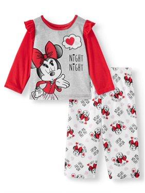 Minnie Mouse Toddler Girl Long Sleeve Top & Pant, 2Pc Pajama Set