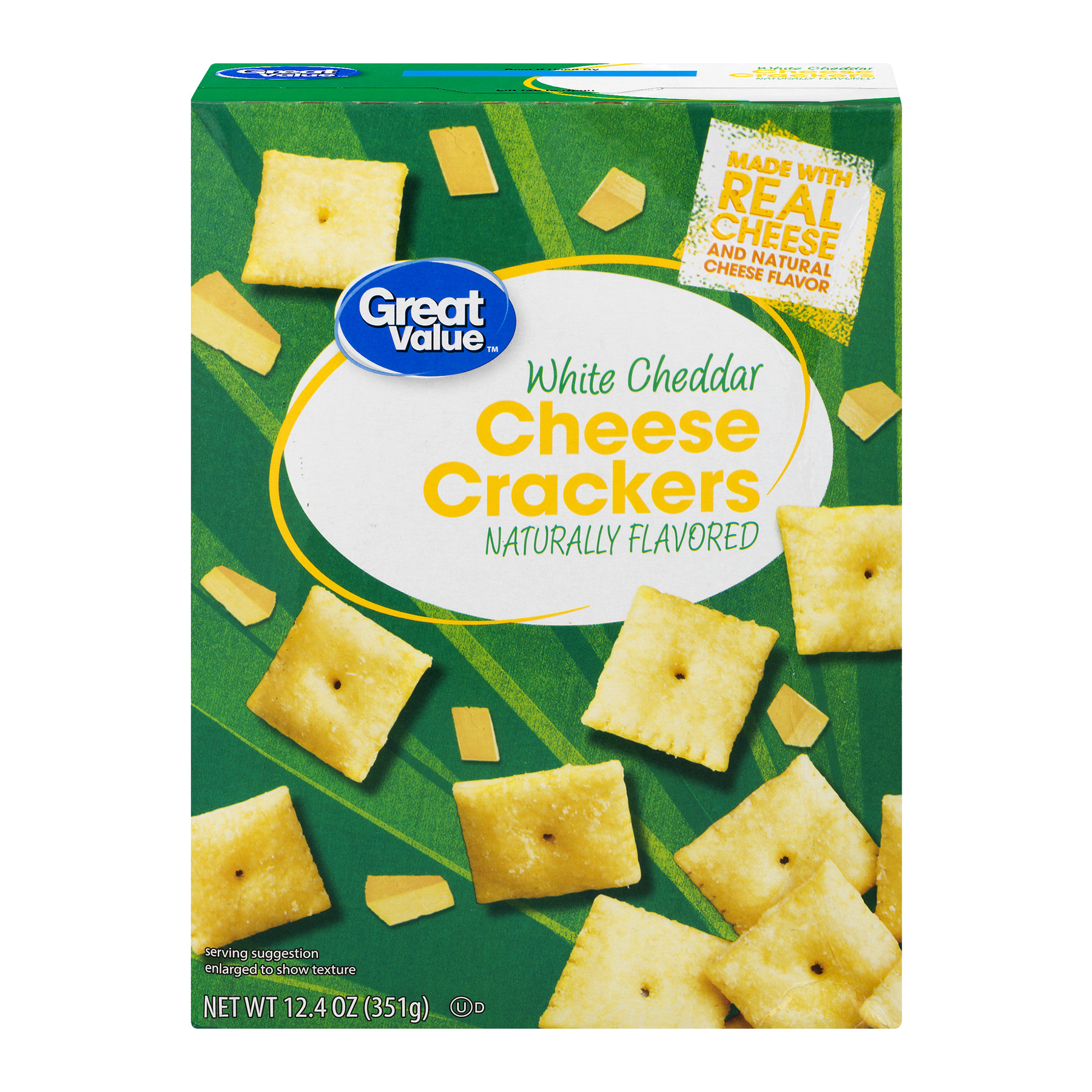 Great Value White Cheddar Cheese Crackers, 12.4 oz