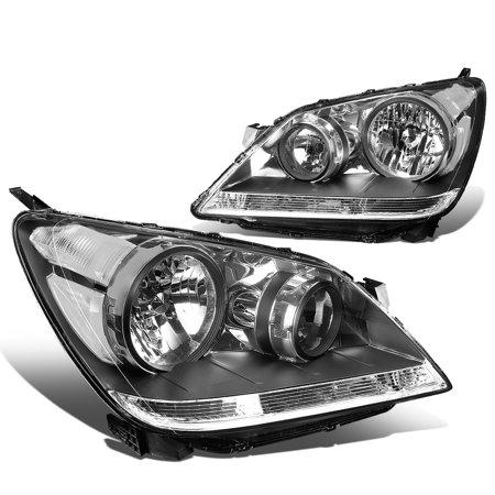 For 2008 to 2010 Honda Odyssey Headlight Black Housing Clear Corner Headlamp 09 RL Left+Right ()