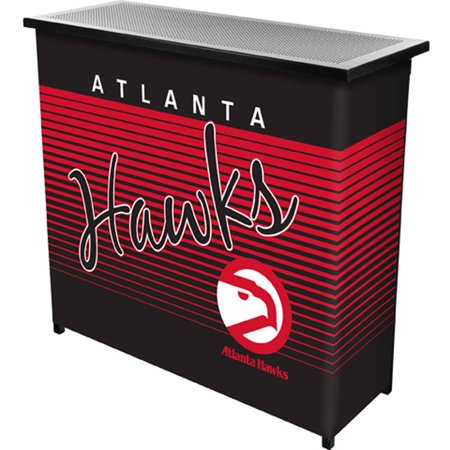 Atlanta Hawks Hardwood Classics NBA Portable Bar with Carrying Case by