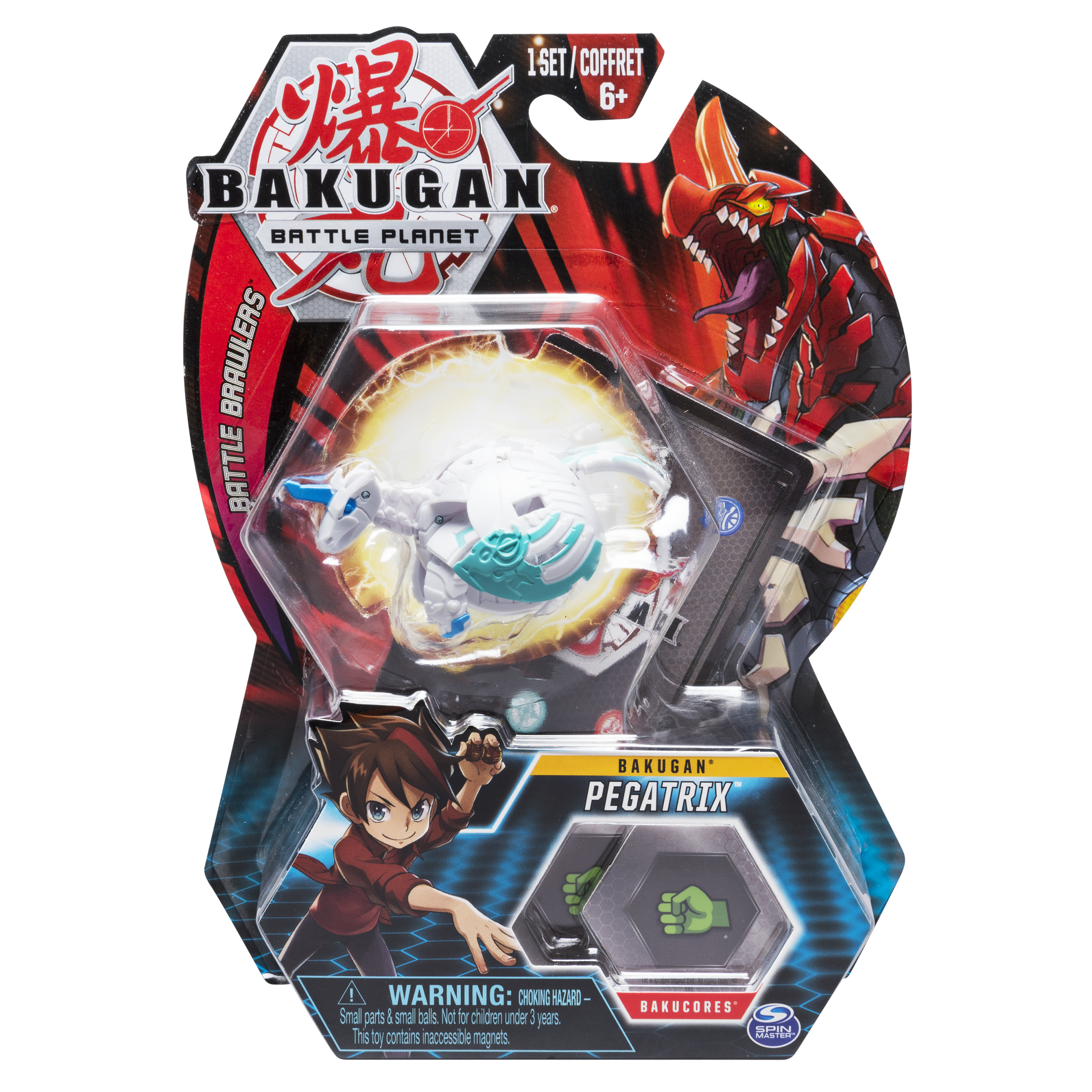 Bakugan, Pegatrix, 2-inch Tall Collectible Transforming Creature, for Ages 6 and Up