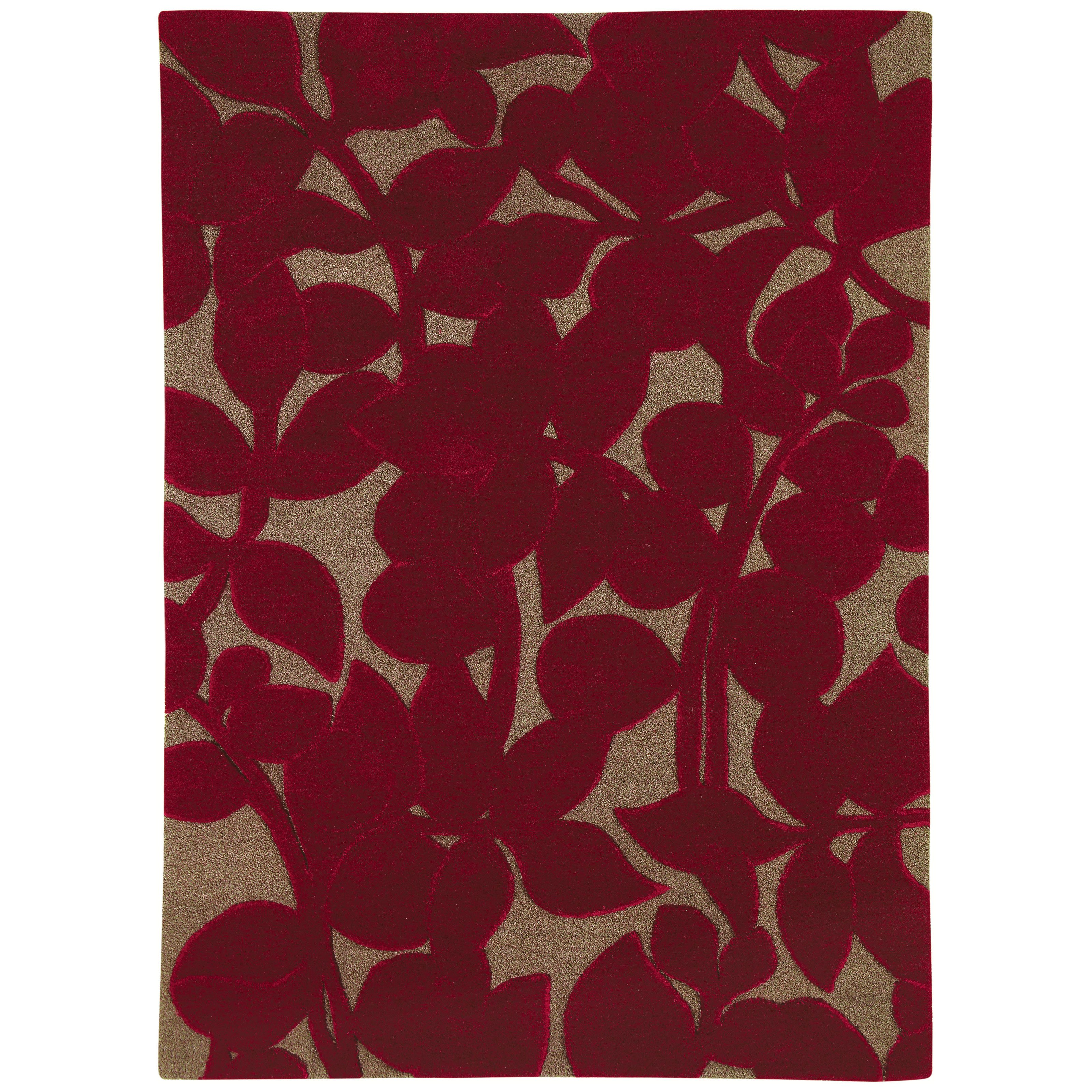 Dynamic Rugs Allure Flora 1904 Area Rug - Rich Red