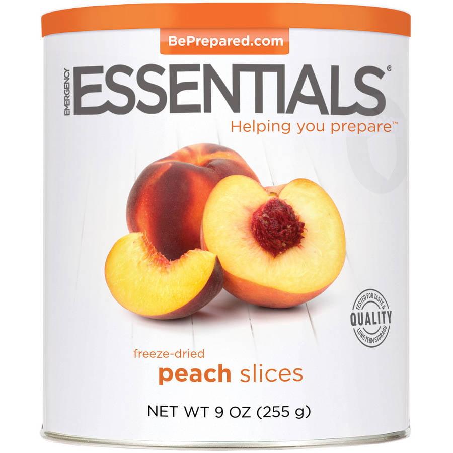 Emergency Essentials Freeze-Dried Peach Slices, 9 oz