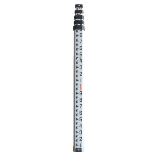 Johnson Level 40-6862 8 ft.  Aluminum Grade Rod With carrying case
