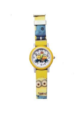 Minions Yellow Watch Cartoon Characters Boys Girls Children Wristwatch MIN-01