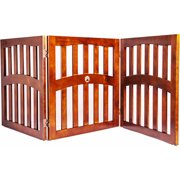 """Lobo Convertible Dog Gate with Ceramic Paw Accent, Three 32"""" Panels"""