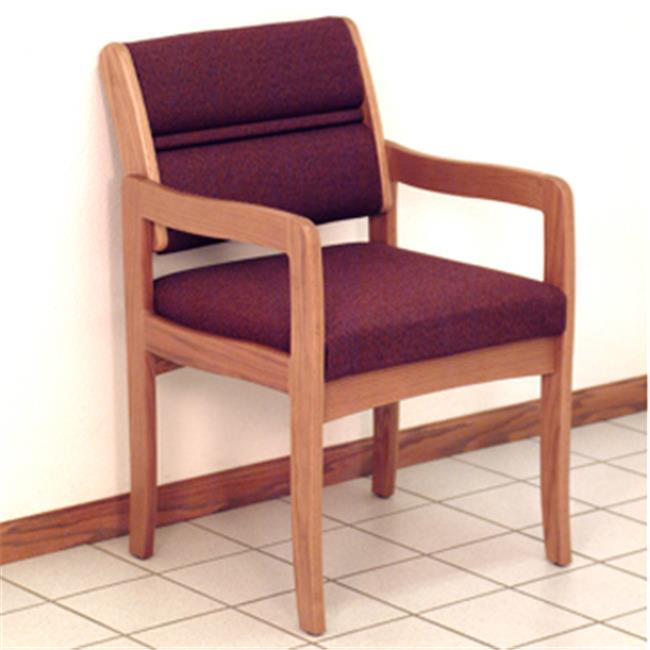 Wooden Mallet DW3-1DLOLB Valley Guest Chair in Light Oak - Leaf Blue