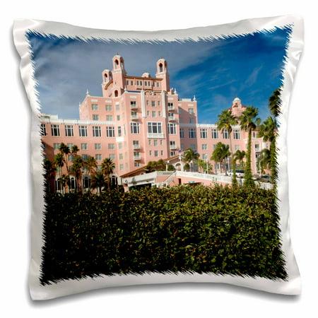 3dRose Don Cesar Resort, St. Petersburg Beach, FL - US10 MPR0345 - Maresa Pryor - Pillow Case, 16 by