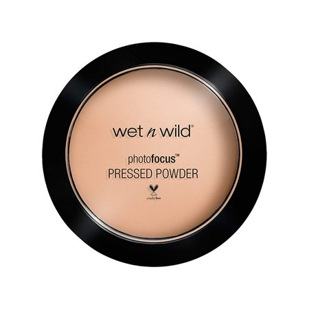 Photo Focus Pressed Powder(packaging may vary), Neutral Buff, 7.5 Gram, Light-diffusing pigments give your skin a veil of silky natural looking.., By Wet n -