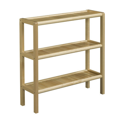 New Ridge Home Goods Abingdon Solid Birch Wood 3-Shelf Console / Shoe Rack