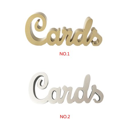 babydream1 English Letters Wedding Birthday Party Reciprocate Ornaments Wooden Letters Cands Decoration - image 4 de 7