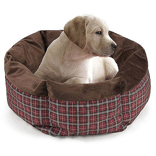 Small Round Cuddler Pet Bed - Red