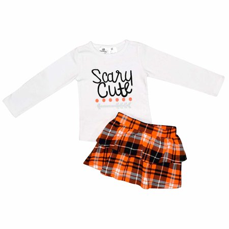 Cute And Unique Baby Halloween Costumes (Unique Baby Girls Scary Cute Plaid 2 Piece Skirt Set)
