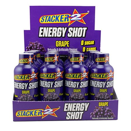Stacker 2 Energy Shots Grape Flavor 2oz. Shots (24