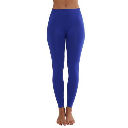 Womens Basic Elastic Seamless Long Leggings Available in Various Colors