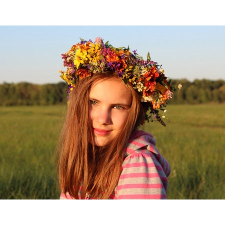 LAMINATED POSTER Fairy Girl Smile Flowers Wreath Baby Rite Joy Poster Print 24 x 36