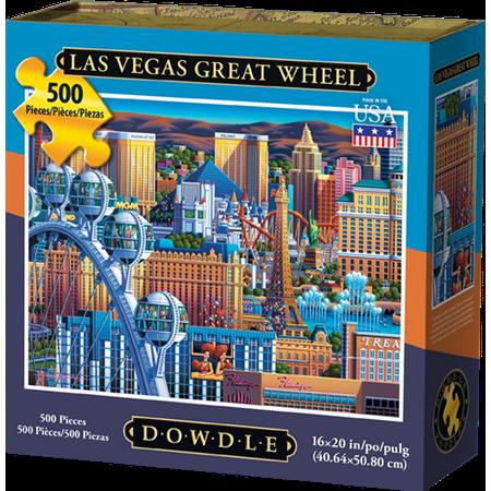 Dowdle Jigsaw Puzzle - Las Vegas Great Wheel - 500 Piece - Halloween Fantasy Ball Las Vegas