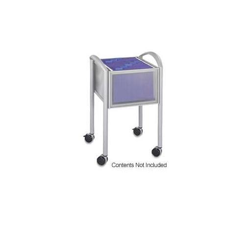 Impromptu Open File Cart, 20-1/4 x 19 x 29-3/4, Silver